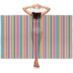 Retro Vertical Stripes2 Sheer Sarong (Personalized)