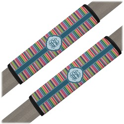 Retro Vertical Stripes2 Seat Belt Covers (Set of 2) (Personalized)