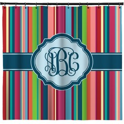 Retro Vertical Stripes2 Shower Curtain (Personalized)
