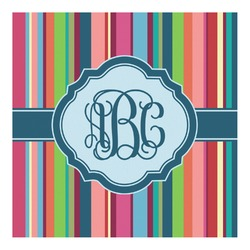 Retro Vertical Stripes2 Square Decal - Custom Size (Personalized)