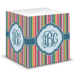 Retro Vertical Stripes2 Sticky Note Cube (Personalized)