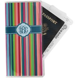 Retro Vertical Stripes2 Travel Document Holder