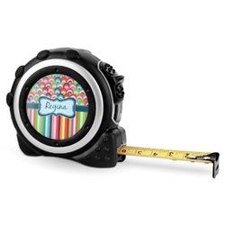 Retro Scales & Stripes Tape Measure - 16 Ft (Personalized)