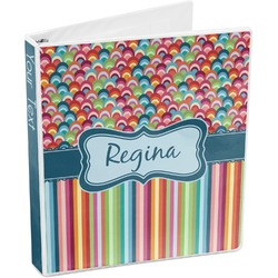 Retro Scales & Stripes 3-Ring Binder (Personalized)
