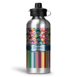 Retro Scales & Stripes Water Bottle - Aluminum - 20 oz (Personalized)