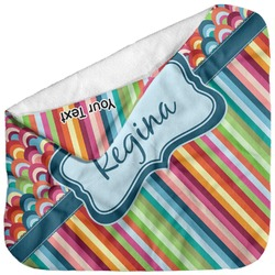 Retro Scales & Stripes Baby Hooded Towel (Personalized)