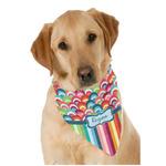Retro Scales & Stripes Dog Bandana Scarf w/ Name or Text