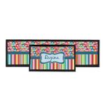 Retro Scales & Stripes Bar Mat (Personalized)