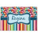 Retro Scales & Stripes Woven Mat (Personalized)