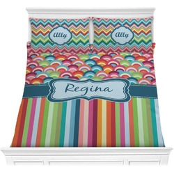 Retro Scales & Stripes Comforters (Personalized)