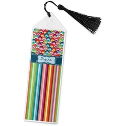 Retro Scales & Stripes Book Mark w/Tassel (Personalized)