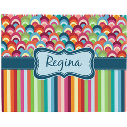 Retro Scales & Stripes Placemat (Fabric) (Personalized)