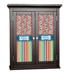 Retro Scales & Stripes Cabinet Decal - Custom Size (Personalized)