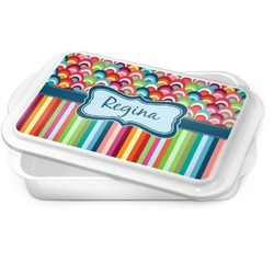 Retro Scales & Stripes Cake Pan (Personalized)