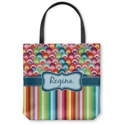 Retro Scales & Stripes Canvas Tote Bag (Personalized)
