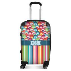Retro Scales & Stripes Suitcase (Personalized)