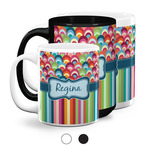 Retro Scales & Stripes Coffee Mugs (Personalized)