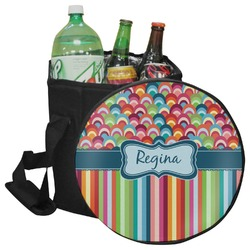 Retro Scales & Stripes Collapsible Cooler & Seat (Personalized)