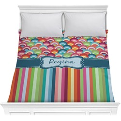 Retro Scales & Stripes Comforter (Personalized)