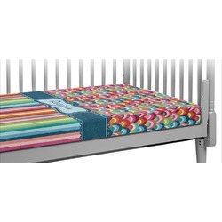 Retro Scales & Stripes Crib Fitted Sheet (Personalized)