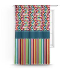 Retro Scales & Stripes Curtain (Personalized)