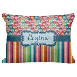 "Retro Scales & Stripes Decorative Baby Pillowcase - 16""x12"" (Personalized)"