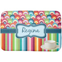 Retro Scales & Stripes Dish Drying Mat (Personalized)