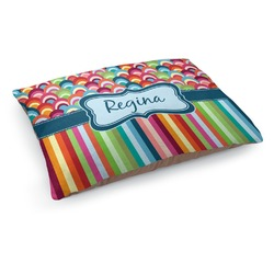 Retro Scales & Stripes Dog Bed (Personalized)