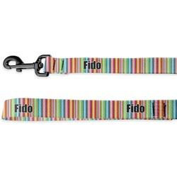 Retro Scales & Stripes Deluxe Dog Leash (Personalized)