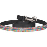 Retro Scales & Stripes Dog Leash (Personalized)