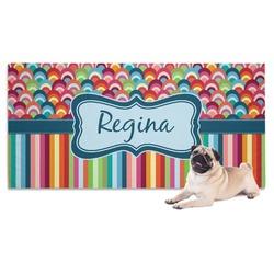 Retro Scales & Stripes Pet Towel (Personalized)
