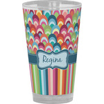 Retro Scales & Stripes Drinking / Pint Glass (Personalized)
