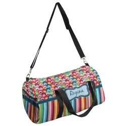 Retro Scales & Stripes Duffel Bag - Multiple Sizes (Personalized)