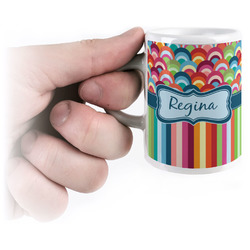 Retro Scales & Stripes Espresso Mug - 3 oz (Personalized)