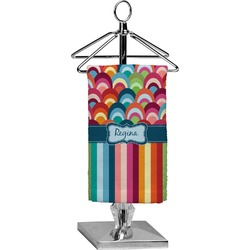 Retro Scales & Stripes Finger Tip Towel - Full Print (Personalized)