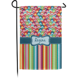 Retro Scales & Stripes Garden Flag - Single or Double Sided (Personalized)