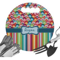 Retro Scales & Stripes Gardening Knee Cushion (Personalized)