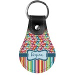 Retro Scales & Stripes Genuine Leather  Keychains (Personalized)