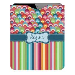 Retro Scales & Stripes Genuine Leather iPad Sleeve (Personalized)