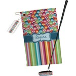 Retro Scales & Stripes Golf Towel Gift Set (Personalized)