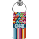 Retro Scales & Stripes Hand Towel - Full Print (Personalized)