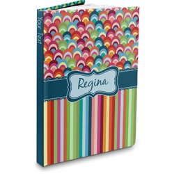 Retro Scales & Stripes Hardbound Journal (Personalized)