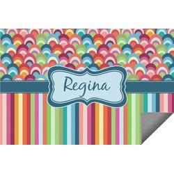 Retro Scales & Stripes Indoor / Outdoor Rug (Personalized)