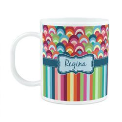 Retro Scales & Stripes Plastic Kids Mug (Personalized)
