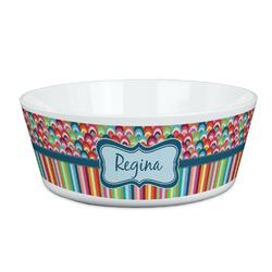 Retro Scales & Stripes Kid's Bowl (Personalized)