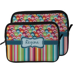 Retro Scales & Stripes Laptop Sleeve / Case (Personalized)