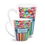 Retro Scales & Stripes Latte Mug (Personalized)