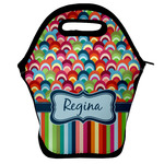Retro Scales & Stripes Lunch Bag (Personalized)