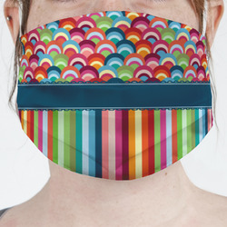 Retro Scales & Stripes Face Mask Cover (Personalized)