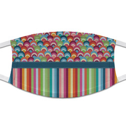 Retro Scales & Stripes Cloth Face Mask (T-Shirt Fabric) (Personalized)